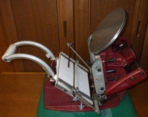 手動式活版印刷機「ADANA 8×5」(英国製)
